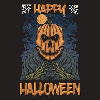Kürbis fröhliches halloween