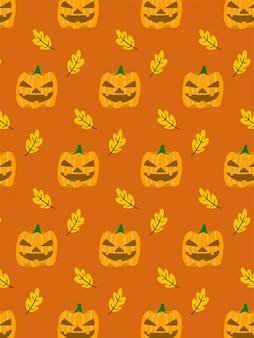 Kürbis halloween nahtlose muster