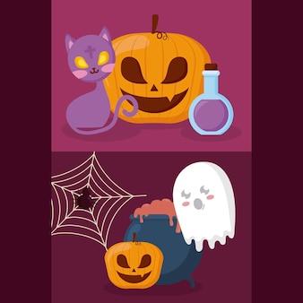 Kürbis mit halloween-konzept