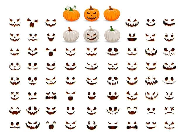 Kürbis mit lächeln für dein design für den feiertag halloween sammle deinen eigenen kürbis
