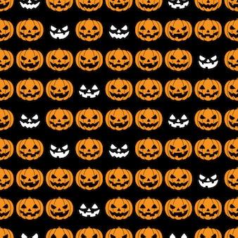 Kürbis nahtloses muster halloween