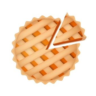 Kürbiskuchen thanksgiving essen realistische süße karotte herbst orangenkuchen draufsicht mit scheibe