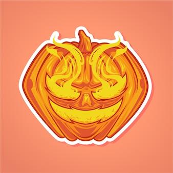 Kürbisse smiley vector illustration premium