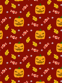 Kürbissüßigkeit halloween-nahtloses muster