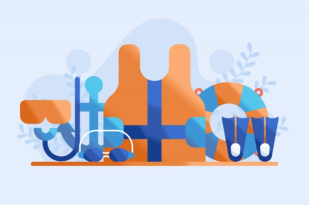 Küstenwache equipmet illustration