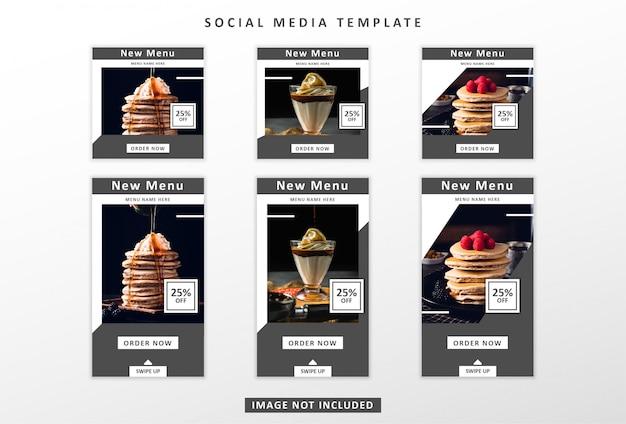 Kulinarische social-media-vorlage
