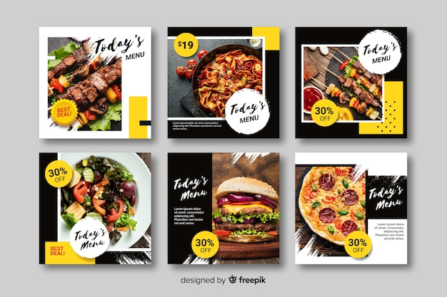 Kulinarischer instagram beitrag eingestellt mit foto