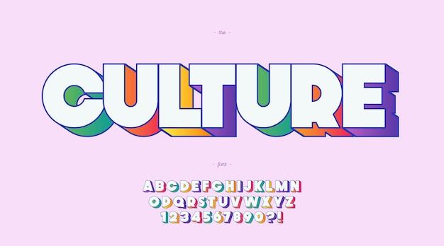 Kulturschrift kühne farbe stil trendige typografie