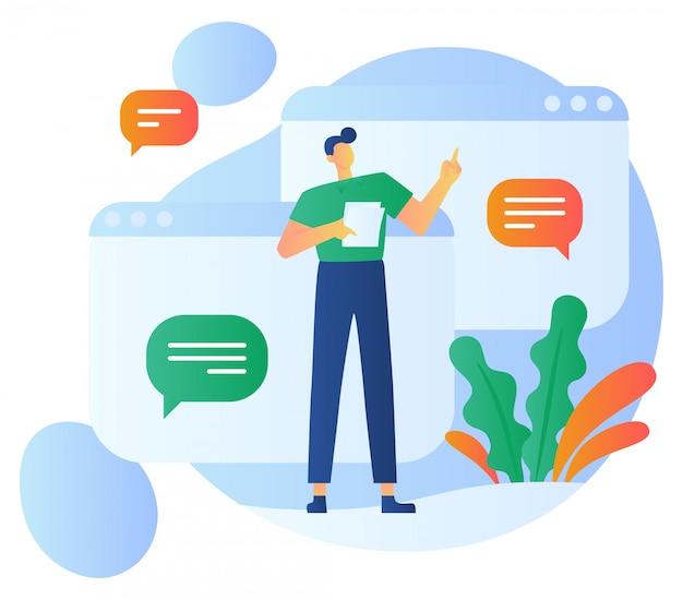 Kunden-feedback-illustration