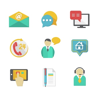 Kunden-helpdesk kontaktiert gestaltungselemente