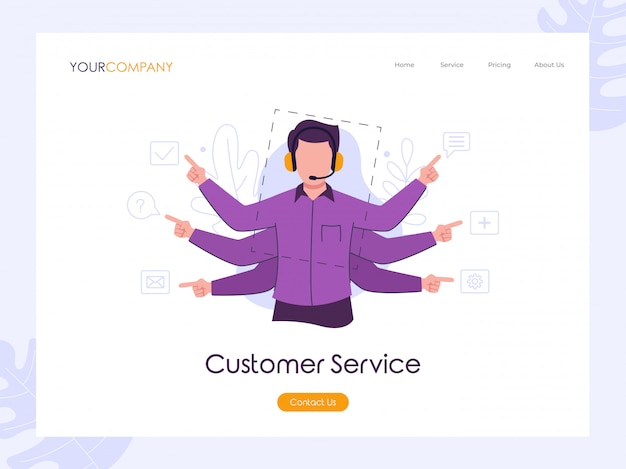 Kunden-service-landingpage