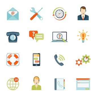Kunden-support-icons set