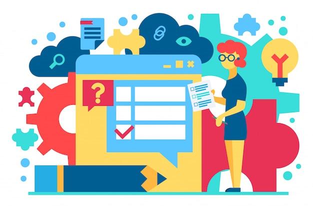 Kundenbetreuung flache vektor-illustration