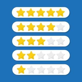 Kundenbewertungsillustration mit fünf sternen