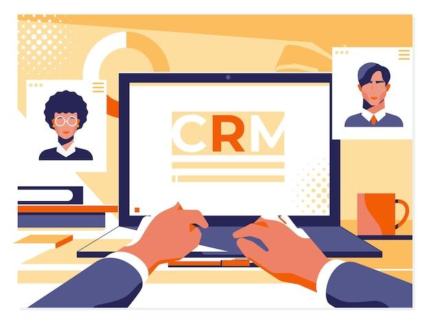 Kundenbeziehungsmanagement-konzept