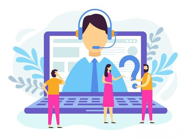 Kundendienst. call-center angestellter