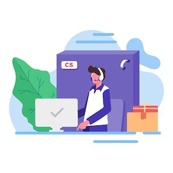 Kundendienst-hilfe-agent-unterstützung