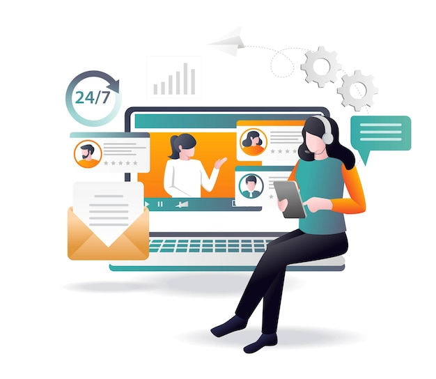 Kundendienst-support 24 stunden