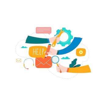 Kundendienst, technische unterstützung, online-hilfe