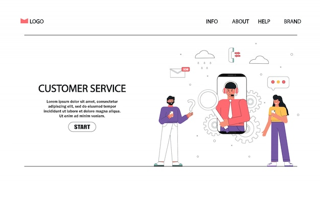 Kundendienst und beratung der kunden - chat, call center, support, feedback, unterstützung.