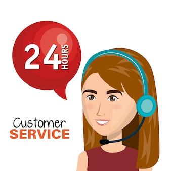 Kundendienstmitarbeiter, der online arbeitet