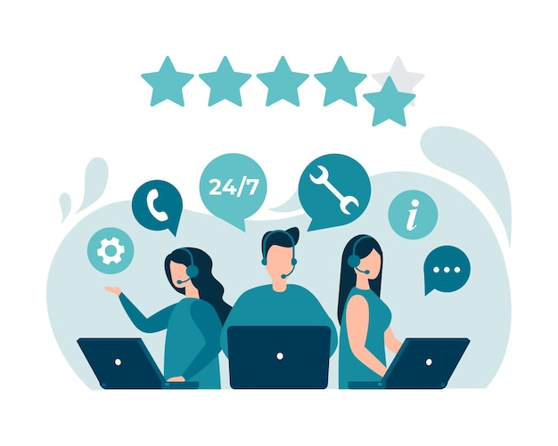 Kundenfeedback bewertung kundenberatung hotline technischer support
