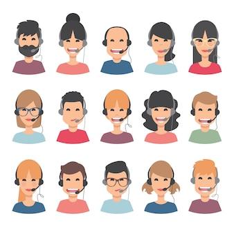 Kundenservice avatar sammlung