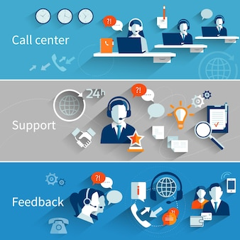 Kundenservice banner-sammlung