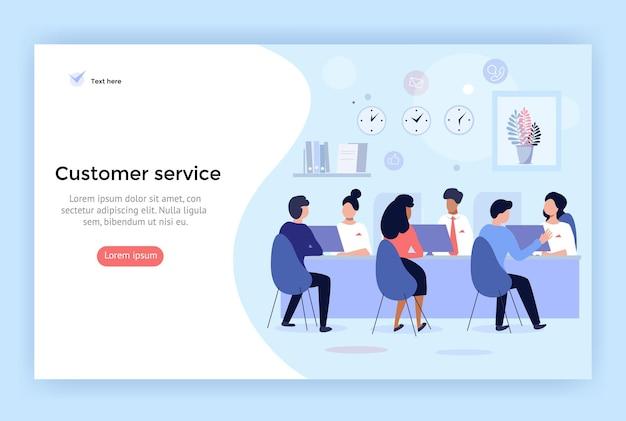 Kundenservice und beratung von kunden konzeptillustration perfekt für webdesign