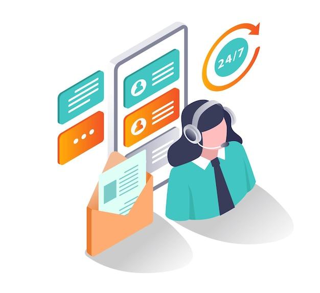 Kundenservice und support 24 stunden
