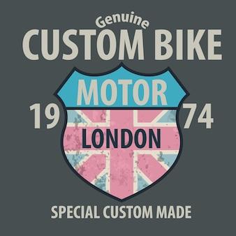 Kundenspezifische fahrradgraphik für t-shirt.