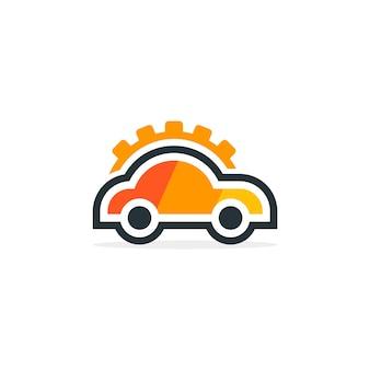 Kundenspezifisches auto mit gang-logo