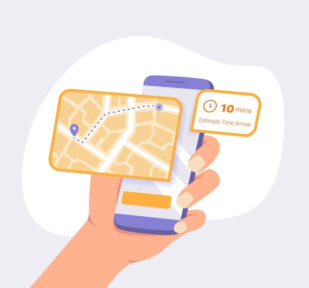 Kundenverfolgung lieferpaket mit der gps-app auf dem smartphone
