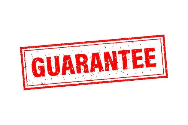 Kundenzufriedenheit garantiert rotes abzeichen und banner