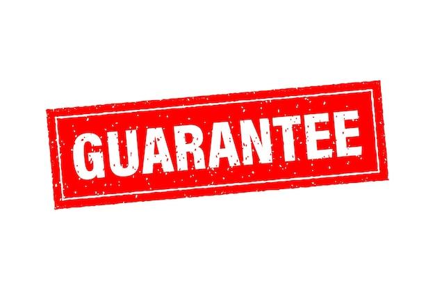 Kundenzufriedenheit garantiert rotes abzeichen und banner Premium Vektoren