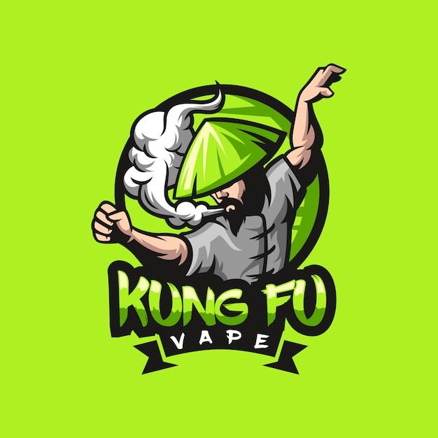 Kung fu vape logo design gebrauchsfertig
