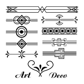 Kunst-deko-vignettenweinlese-verzierungszusammenfassung sammlung