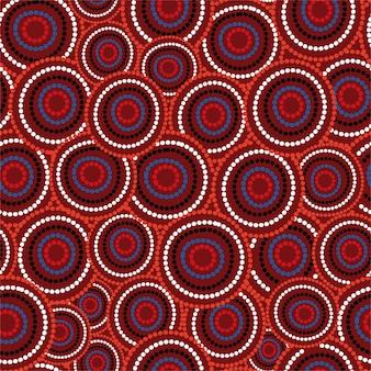 Kunst der australischen aborigines nahtloses muster