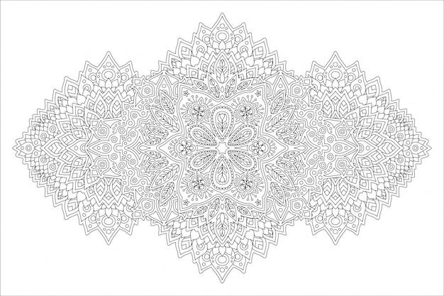 Kunst für erwachsenes malbuch mit abstraktem muster