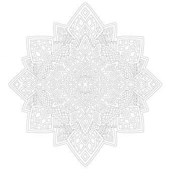 Kunst für malbuchseite mit abstraktem muster