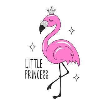 Kunst glitter flamingo zeichnung