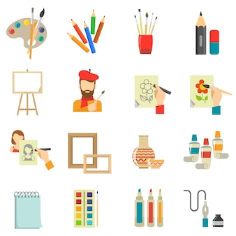 Kunst icons set