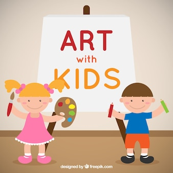Kunst mit kindern illustration