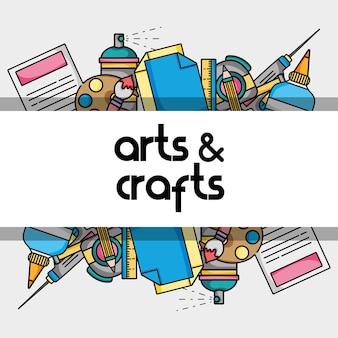 Kunst und handwerk kreatives objekt design