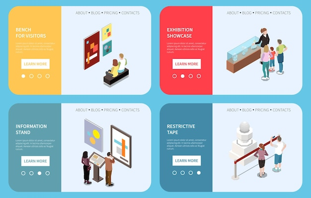 Kunstgalerie web banner illustration