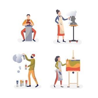 Kunsthandwerk praxis werkstatt personen sammlung
