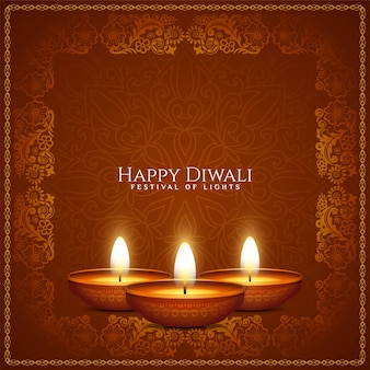 Kunstlicher rahmenhintergrundvektor des glücklichen diwali-kulturfestivals