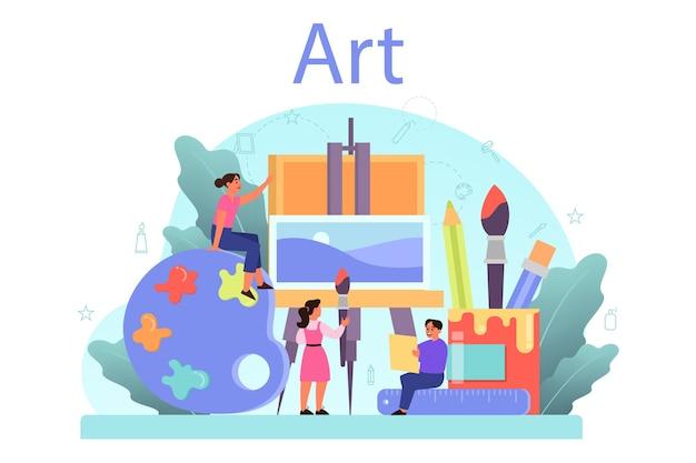 Kunstschulausbildung.