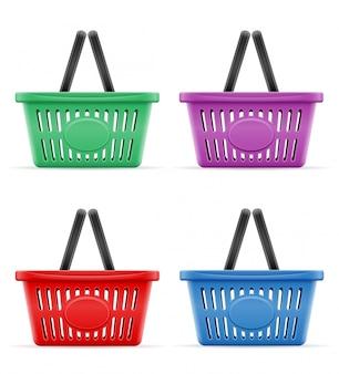 Kunststoff-einkaufskorb der laden