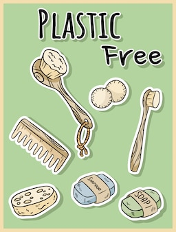 Kunststofffreie duschartikel. ökologisches und abfallfreies produkt. ökologisch leben